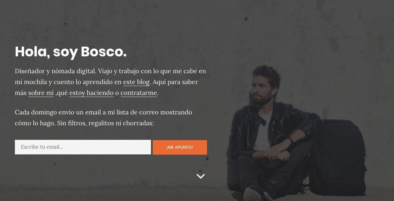 web minimalista de Bosco Soler