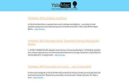 Yslamac podcast sobre tecnología centrada en Apple